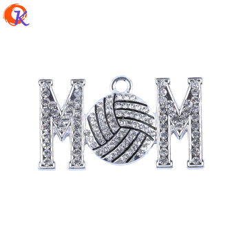 43*23MM 10Pcs/Lot DIY Jewelry Finding Mama Volleyball Pendant Sport Feast Boy Pendant For Handmade Necklace CDRP-503947