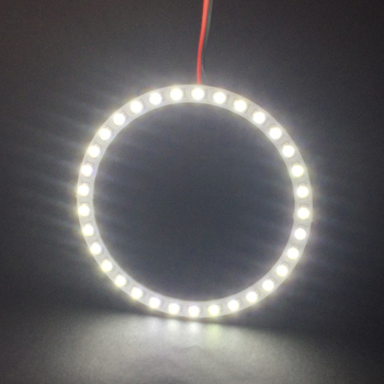Skuer 1PCS x 70mm Led Headlight 3528 21 SMD Led lamp Angel Eyes Halo Ring Light White/Blue/Yellow/Green/Red