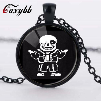 Caxybb Undertale Game Video Game Men's Handmade Fashion Bronze Necklace Silver Steampunk Pendant Women's New String Toy Gift