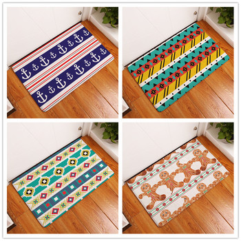2017 New Home Decor Geometric Patterns Carpets Non-slip Kitchen Rugs for Home Living Room Floor Mats 40X60 50X80cmm