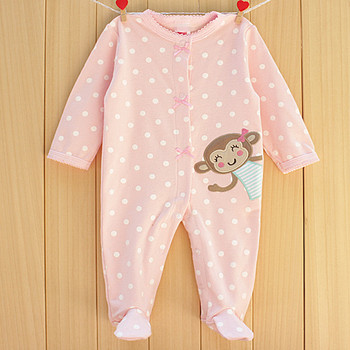 Spirng autumn overall baby clothes newborn cute Rompers baby girls dot cartoon Long sleeve jumpsuit baby wear